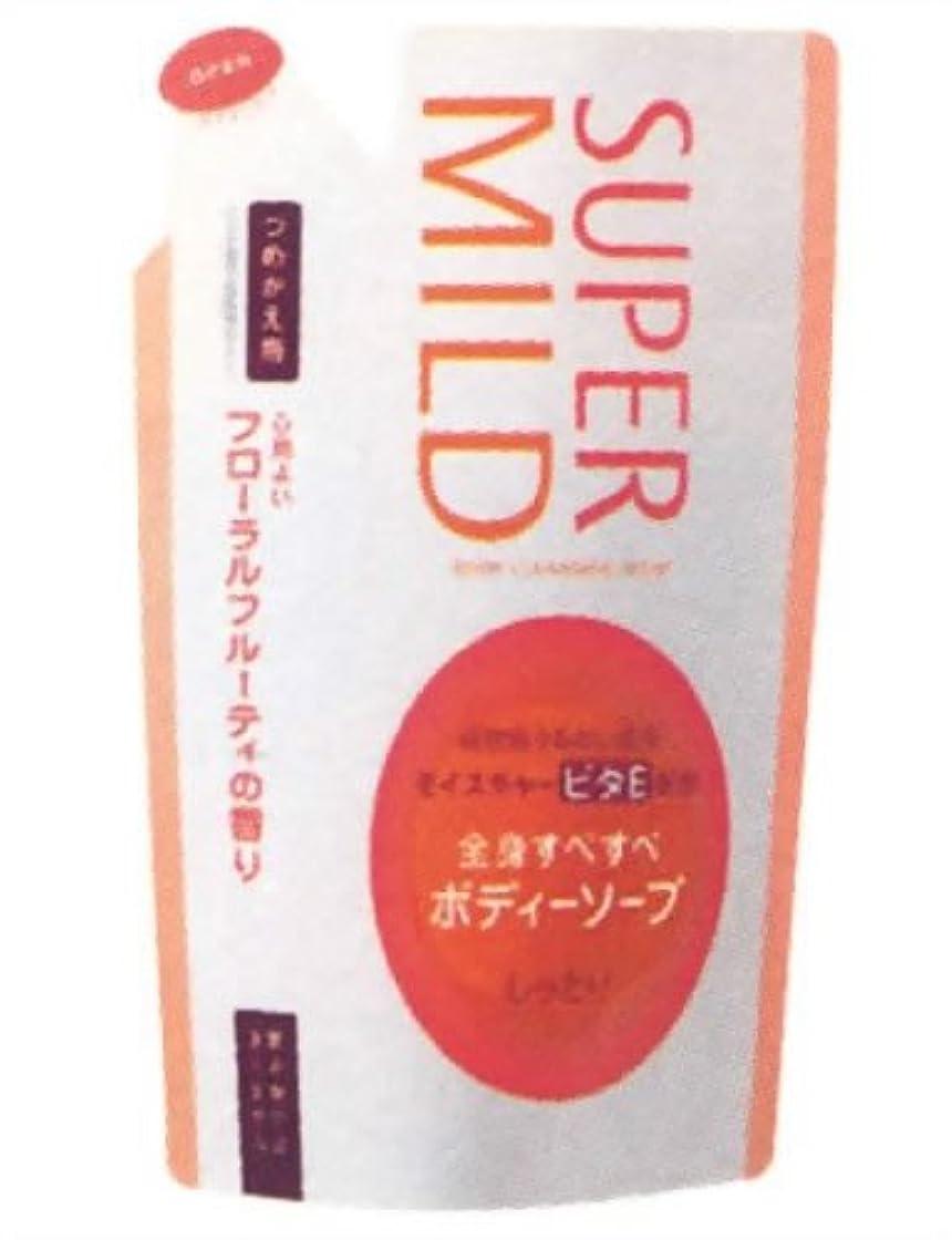 情緒的発表するボールスーパーマイルドボディソープ(しっとり)つめかえ フローラルフルーティの香り 500ml