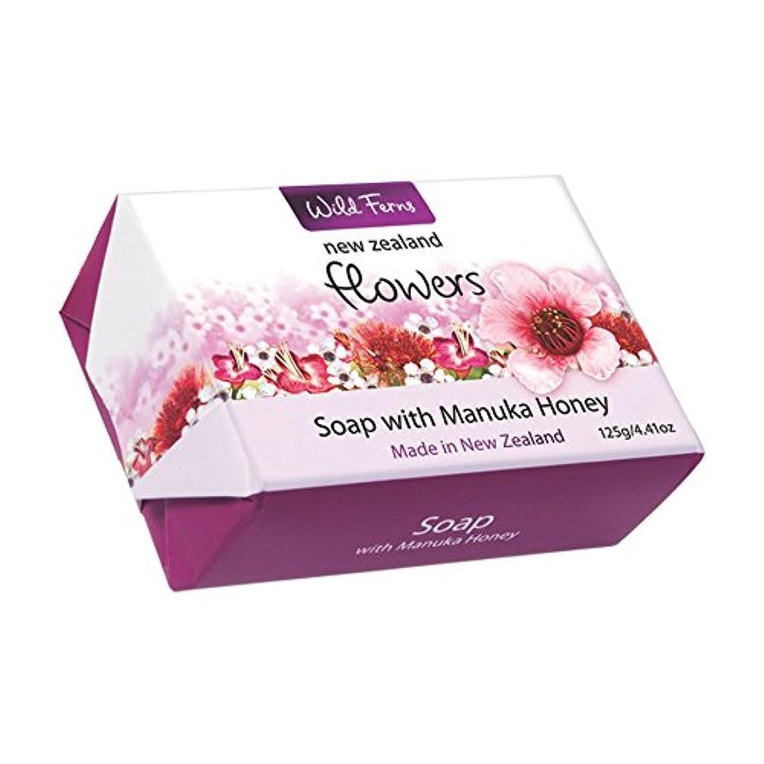 ストライプ師匠不機嫌Flowers Soap with Manuka Honey 125g