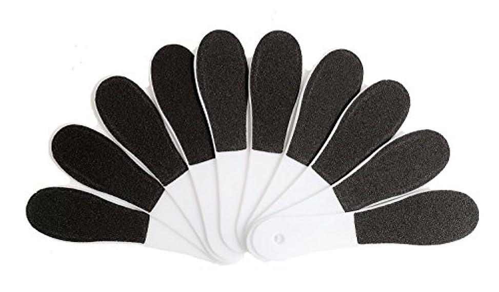 分離するクアッガ元気(ADOSSY) プロ仕様 角質除去 フット用品 角質削り 10本 セット かかと 魚の目 ケア 足裏 フットケア 足底 つるつる なめらか すべすべ