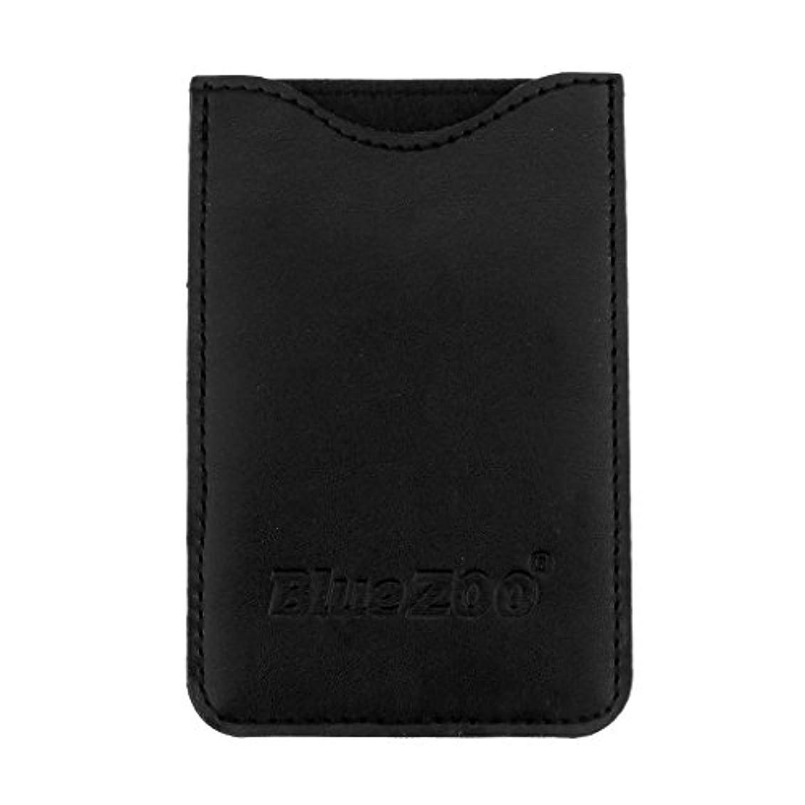 電話ロッジメディアPUレザー櫛バッグポケットオーガナイザー収納保護カバーケースパック - ブラック