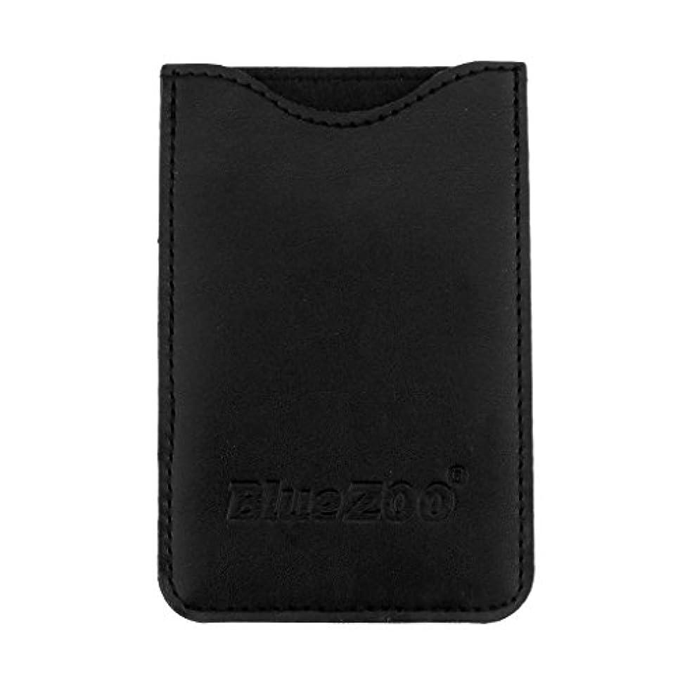 ネックレット移行農学Fenteer コームバッグ 収納ケース 収納パック 保護カバー 櫛/名刺/IDカード/銀行カード オーガナイザー 全2色  - ブラック