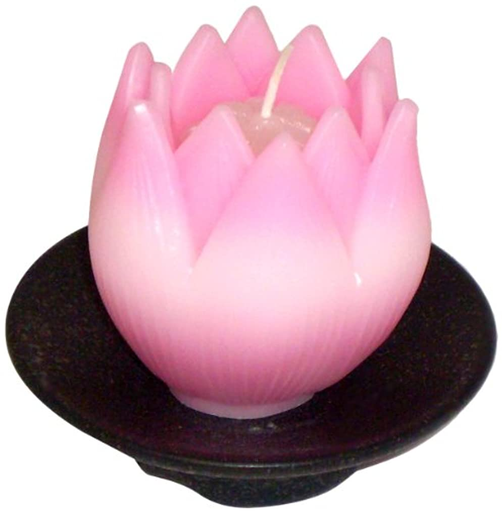 飛ぶ西部天気東海製蝋のろうそく リリィ 器付き ピンク
