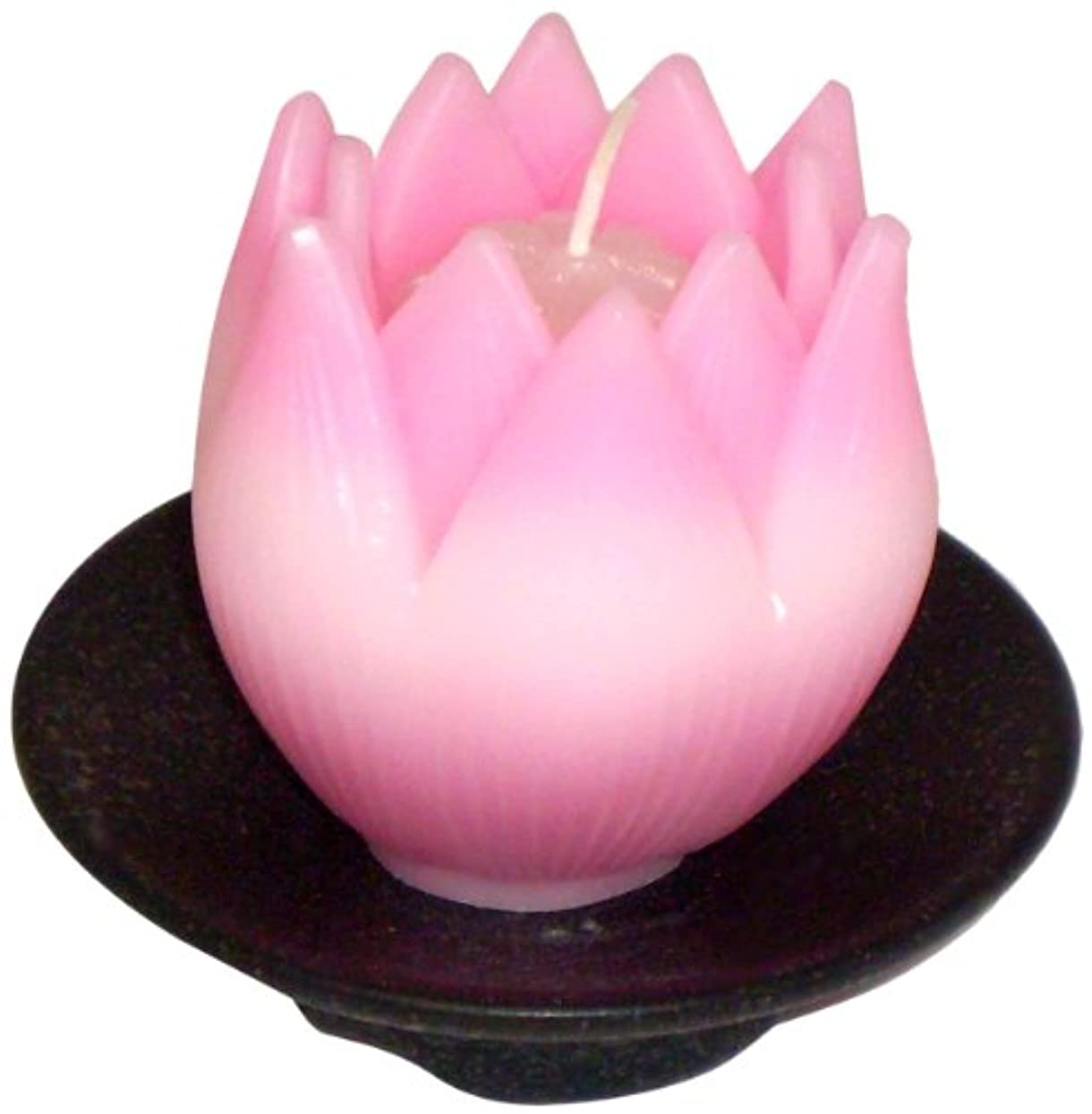 東海製蝋のろうそく リリィ 器付き ピンク