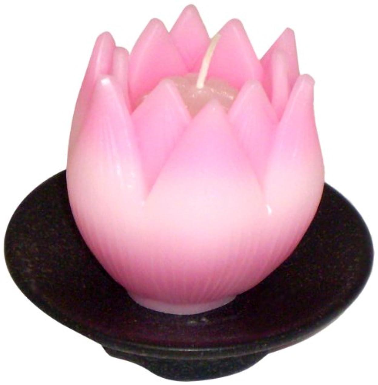 洗練された疑問を超えてバー東海製蝋のろうそく リリィ 器付き ピンク