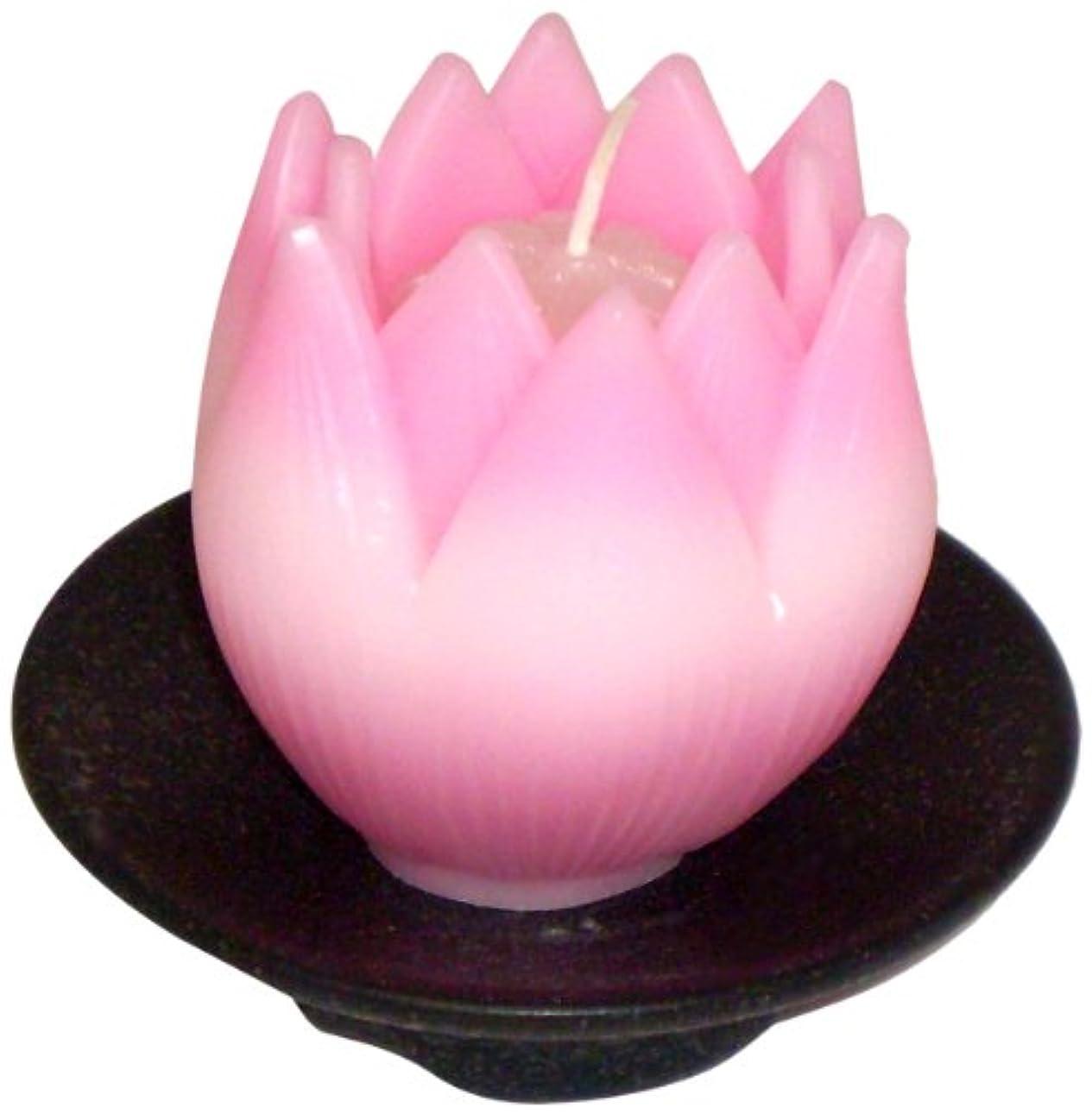 緩やかな大使恐怖症東海製蝋のろうそく リリィ 器付き ピンク