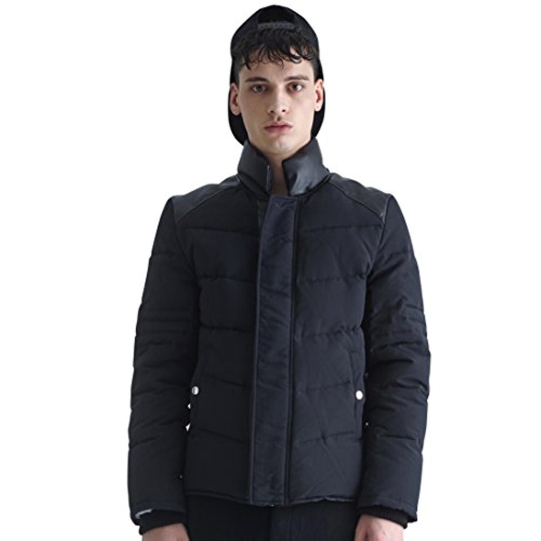 VIISHOW メンズ コート?ジャケット ダウンジャケット ダウンコート 人気 黒