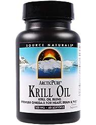 Source Naturals ArcticPure クリルオイル 500 mg 60ソフトカプセル 【アメリカ直送】