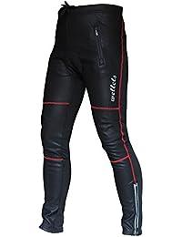 Wellcls 冬用 レーサーパンツ(3Dゲルパッド付き) 防風 ウインドブレーク 裏起毛 フリース サイクルパンツ サイクルウェア サイクリングタイツ 自転車 サイクリング
