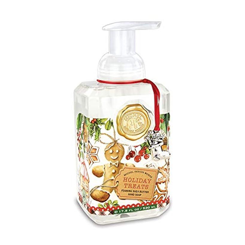 毎年ハッチ乳剤ミッシェルデザインワークス シアバター リキッドソープ ホリデイトリーツ 泡ハンドソープ アロマ リキッドソープ ハンドソープ ポンプ 正規品 アメリカ直輸入 Rakka MD-FOA330