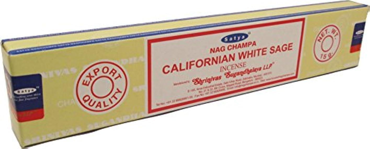 習字男らしさポータブルCultural Exchange Satya Sai Baba Californianホワイトセージお香[ 2パックX 15 Sticks Perパック – ブラウン – 15 G ]