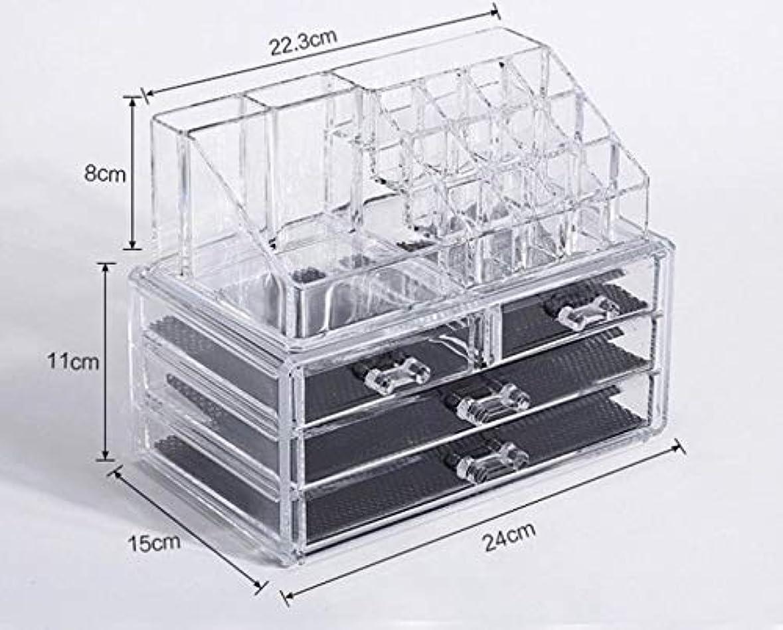 ジャンクション特派員建物化粧品収納ボックス メイクボックス 化粧品 収納 ニオイなし 騒音なし 防塵 高透明度 強い耐久性