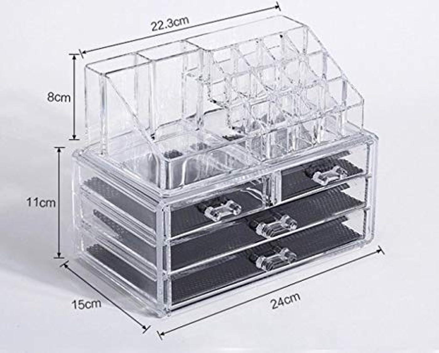 人質ハグ法王化粧品収納ボックス メイクボックス 化粧品 収納 ニオイなし 騒音なし 防塵 高透明度 強い耐久性