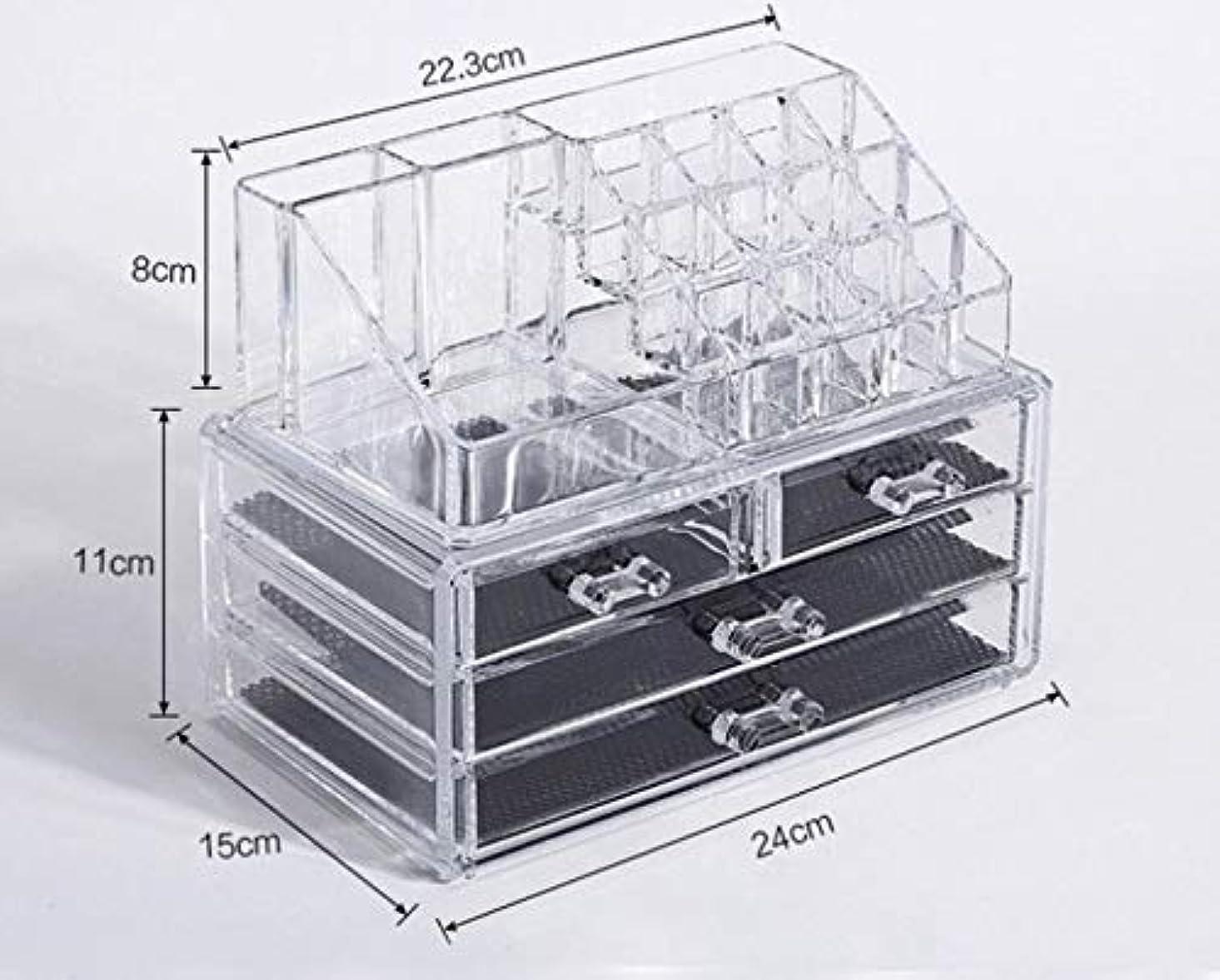 ケイ素オン請願者化粧品収納ボックス メイクボックス 化粧品 収納 ニオイなし 騒音なし 防塵 高透明度 強い耐久性