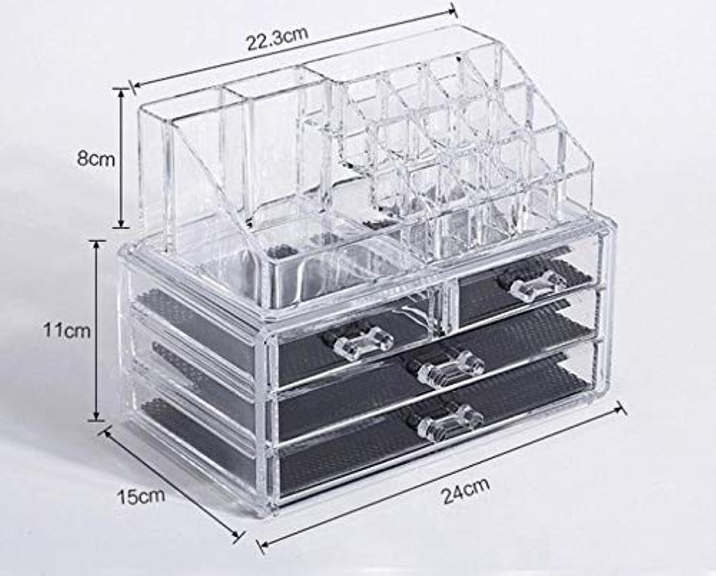 レコーダー脇に偶然の化粧品収納ボックス メイクボックス 化粧品 収納 ニオイなし 騒音なし 防塵 高透明度 強い耐久性