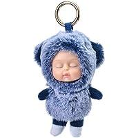 Memeda Keychain Cute Charm Girl Lady Plush Cartoon Bag Pendant Decoration Birthday Gift Susie-Blue bear