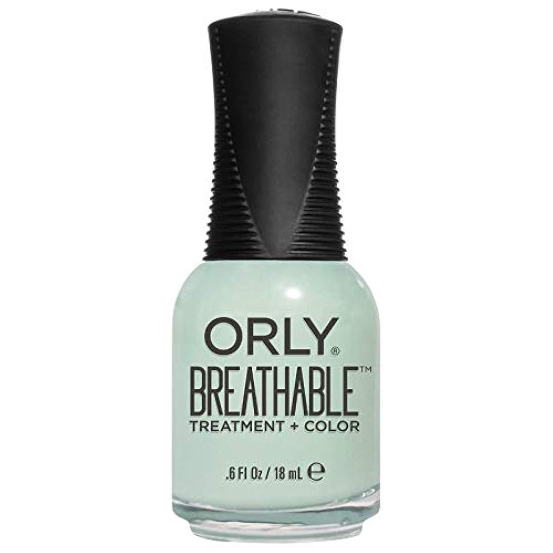 残酷つぶやき関税Orly Breathable Treatment + Color Nail Lacquer - Fresh Start - 0.6oz/18ml