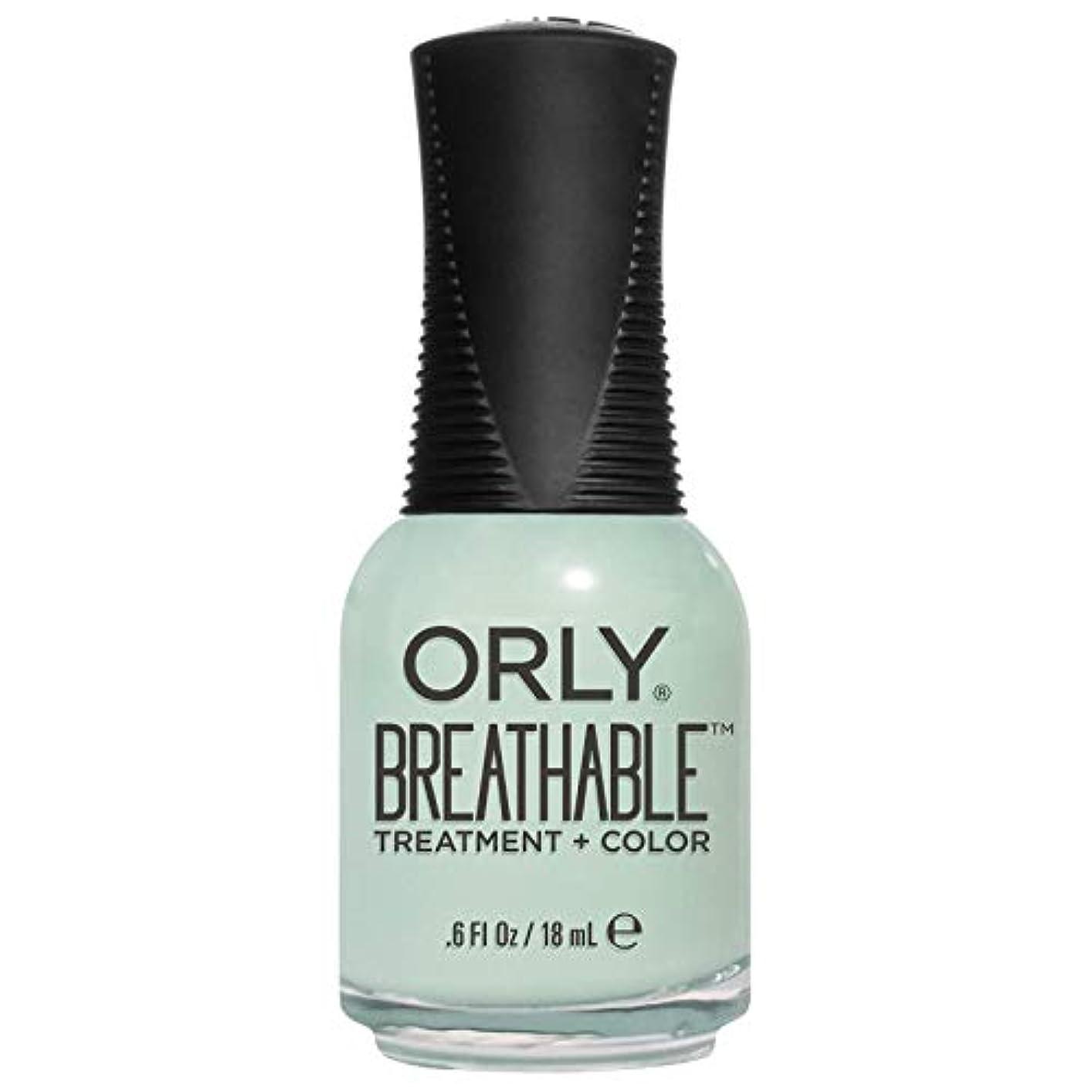 ソケット耐える人形Orly Breathable Treatment + Color Nail Lacquer - Fresh Start - 0.6oz/18ml