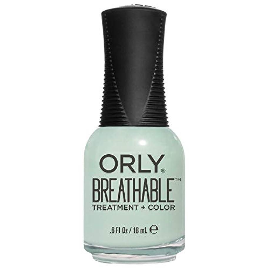 無声で分散沼地Orly Breathable Treatment + Color Nail Lacquer - Fresh Start - 0.6oz/18ml