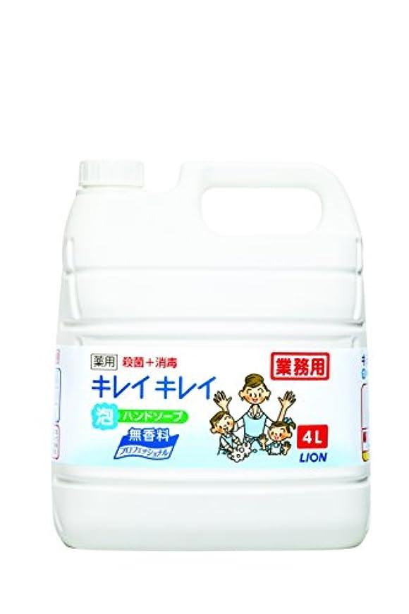 消化器所有者専門知識【大容量】キレイキレイ 薬用泡ハンドソープ プロ無香料4L