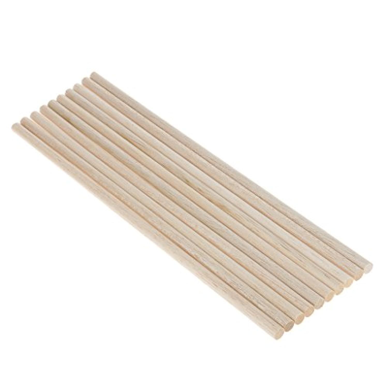 Perfk 10個 バルサ材 円 木棒 家具作り 工芸品 アクセサリー 4サイズ選べ - 300mm