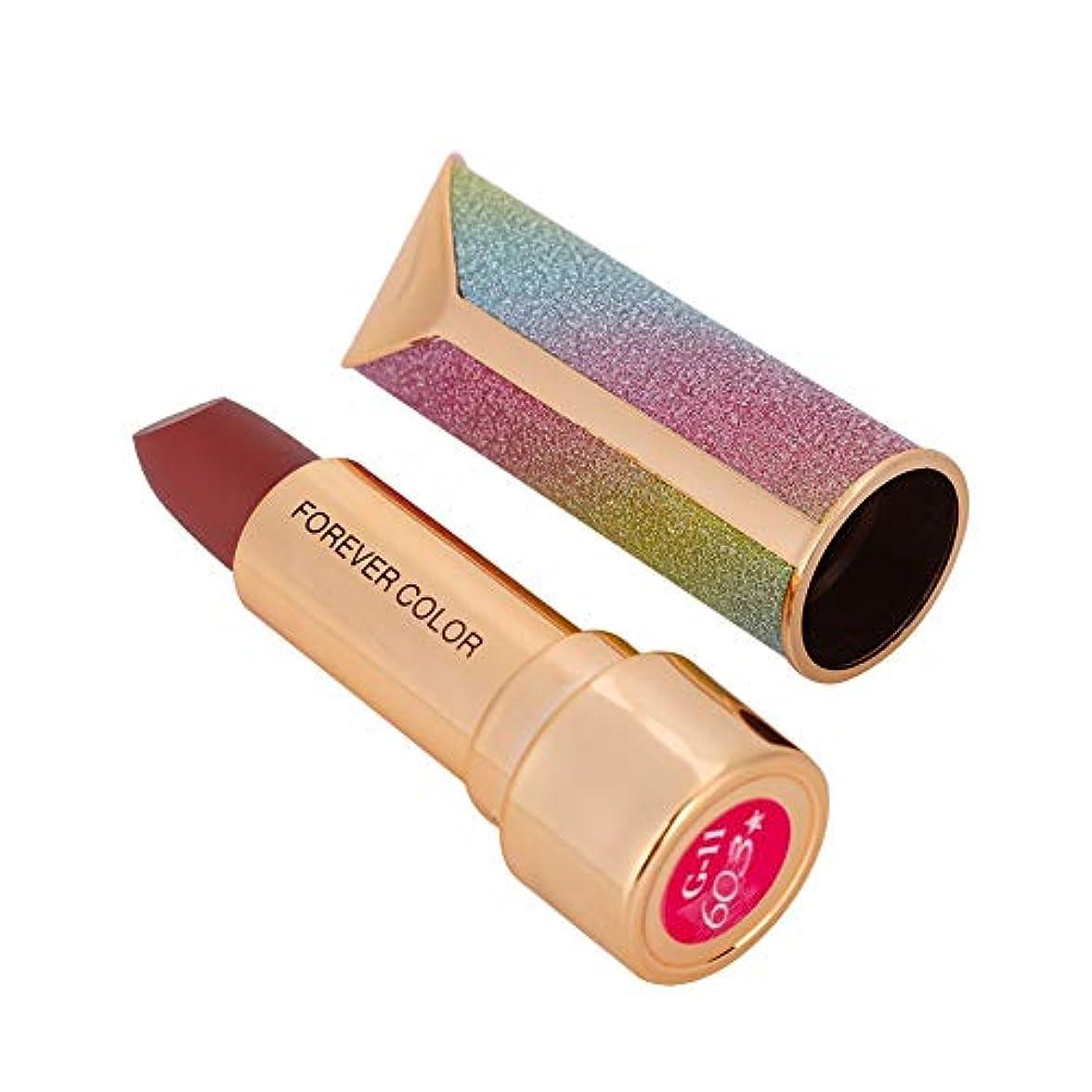 指紋の間で未満4色合いの口紅、モイスチャライジングマットリップスティック、長持ち水防水リップクリーム、化粧品、化粧道具(603#)