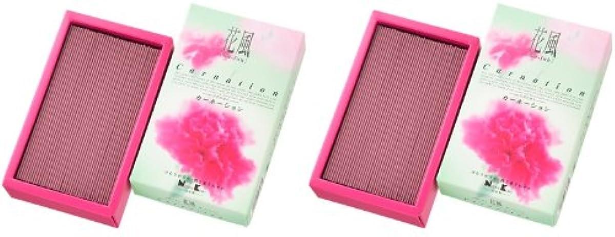 香ばしい上級段落日本香堂 花風 カーネーション バラ詰 2箱セット