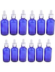 chiwanji 12個 ガラスボトル エッセンシャルオイル 精油 香水 保存 詰替え スポイト付 旅行用品 2サイズ