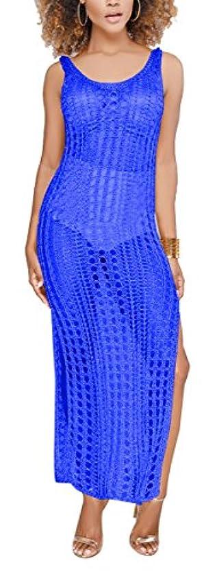 タップ敬意島(セクシーチェリー) Sexycherry レディースの視点中空かぎ針編み花柄セクシーレースニット ビキニカバーアップ 夏 ビーチウェアドレス