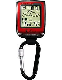 [LAD WEATHER]アウトドア時計 方位 高度 気圧 温度 天気予測 デジタルコンパス カラビナウォッチ