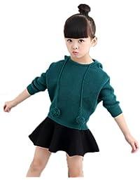 JooXoo 可愛い ガールズ 暖かい ニット スカート セーター セット ミニスカート 秋冬