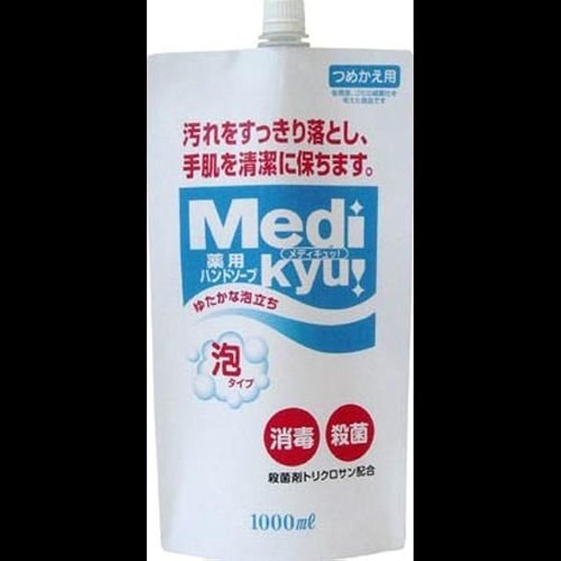 偶然料理害【まとめ買い】薬用ハンドソープ メディキュッ 泡タイプ 詰替用 1000ml ×2セット