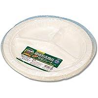 【イベント?文化祭?お祭り用】食品容器 バガスペーパーウェア 仕切プレート PY-26 1袋(10枚パック)