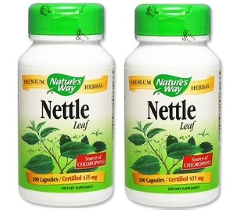 対カレンダー病な2本セット 海外直送品 Nature's Way Nettles, 100 Caps 435 MG [並行輸入品]