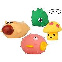 (コ-ランド) Co-land お風呂用 泳ぐ おもちゃ 水遊び 可愛い 音出る 動物 4点セット 知育 プール 子供 赤ちゃん 男の子 女の子 プレゼント