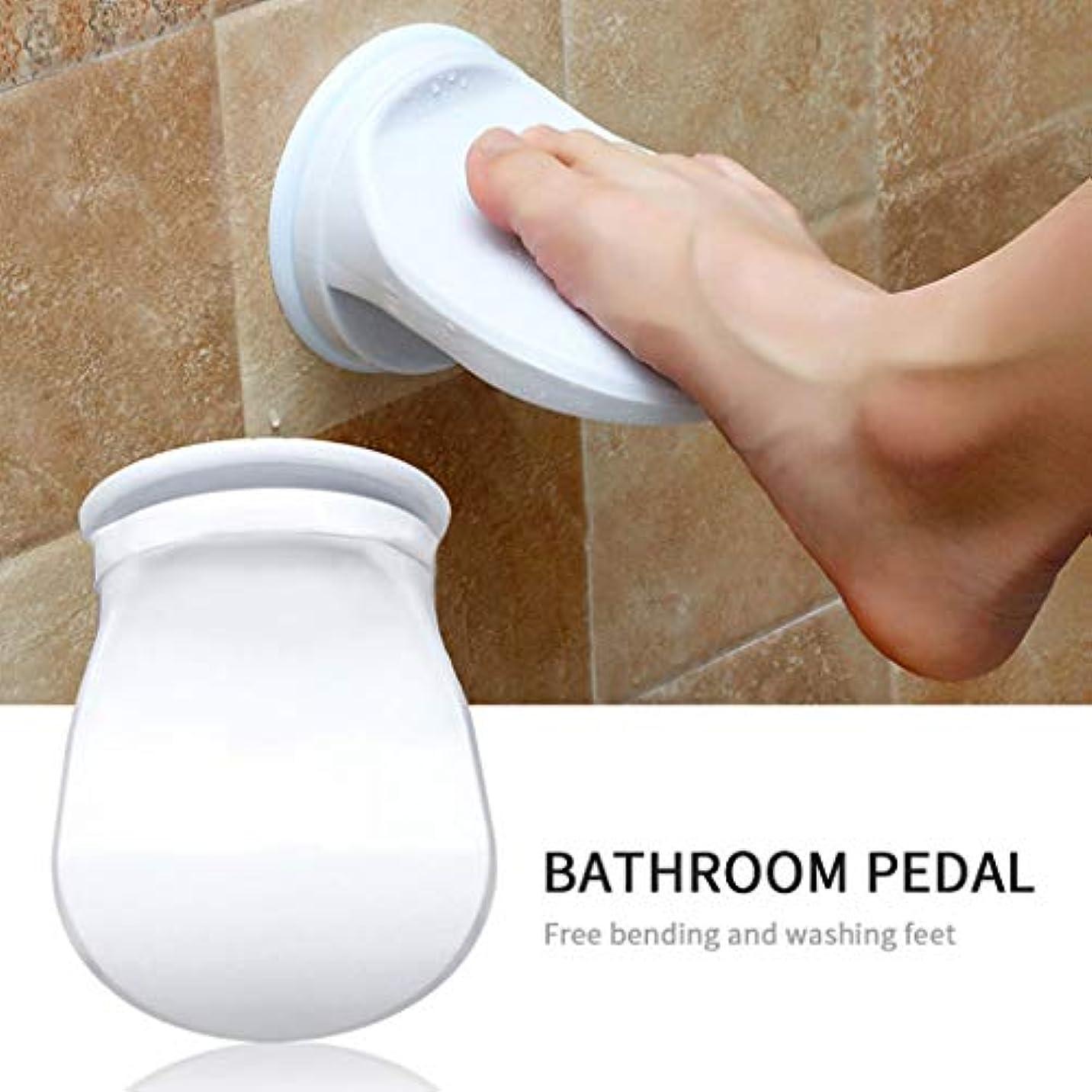 スプレー暗くする文明化するシャワーフットレスト,Tichan 洗濯シェービングレッグバスルームシャワー節約フットレストノンスリップ吸引カップ