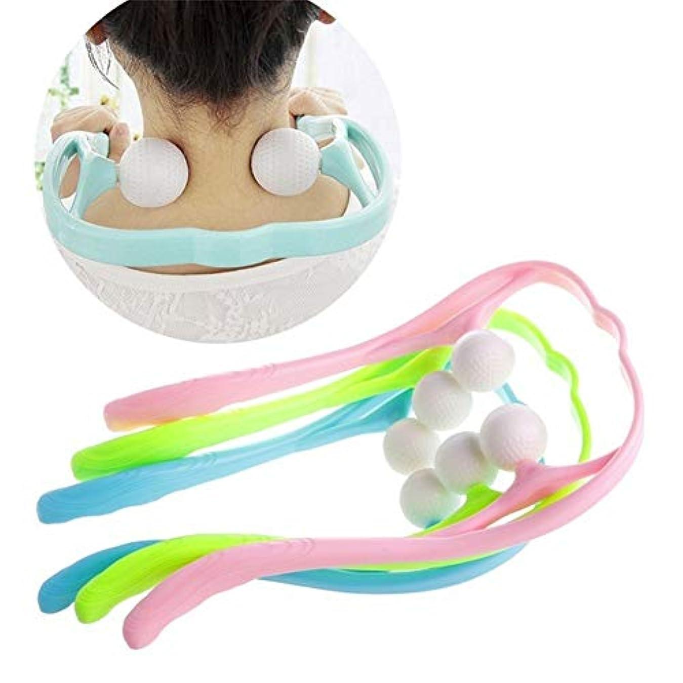 カフェ内訳眠り痛み緩和マッサージ、首のマッサージ、首の後ろの肩のためのデュアルトリガーポイントセルフマッサージツール,3pacs
