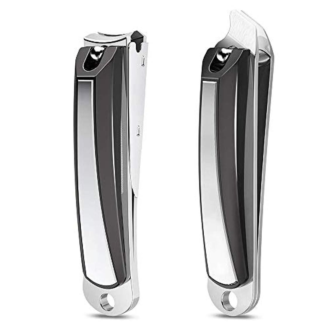 ドアオゾンランダム2本セットガラス製爪やすり レザー収納袋付き 手足用爪切り カバー付き ステンレス鋼製