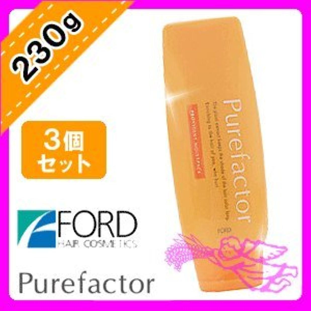 アテンダント参照する緩やかなフォード ピュアファクター モイストパック 230g ×3個 セット FORD Pure factor
