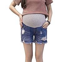 スタイリッシュで快適 カジュアルデニム ソフトホールズボン デニムショーツジーンズ 女性のための 妊娠 夏 Zhhlaixing
