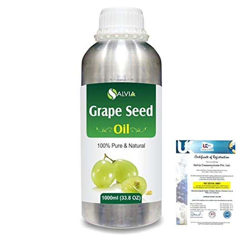 Grape Seed (Vitis vinifera) 100% Natural Pure Undiluted Uncut Carrier Oil 1000ml/33.8 fl.oz.