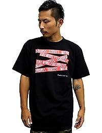 4368 BADASS/バダス 5BOX バダス Tシャツ ブラック×レッド