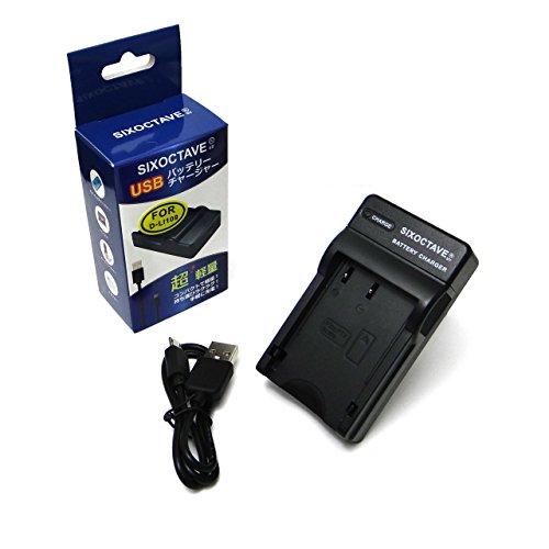 [SIXOCTAVE] PENTAX ペンタックス D-BC109 K-r/K-30/K-50/K-S1/K-S2 等対応充電器 D-LI109 用 カメラ バッテリー USBチャージャー[メーカー純正互換共に充電可能]