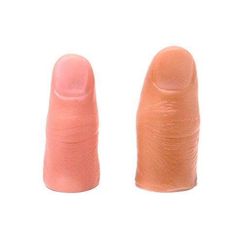 手品道具 サムチップ 2サイズ セット (ハード/ミディアム ラージ) 仮指 マジック リアル 親指 爪 ドッキリ ...