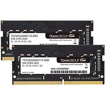 Team ノートPC用 SO-DIMM DDR4 2666MHz PC4-21300 8GBx2枚組 16GBkit 無期限保証