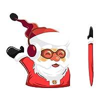 GOSIUP クリスマスデコレーションサンタクロースを振って車のステッカースタイリングウィンドウワイパーデカールリアフロントガラスの装飾