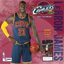 Cleveland Cavaliers Lebron James 2017 Calendar