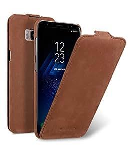 Melkco Galaxy S8 (2017) ケース 本革 プレミアム ヌバック レザー ハンドメイド ジャッカタイプ (縦開き) MKJKSSGLS8JT1VBSD 【 クラシック・ビンテージ・ブラウン 】