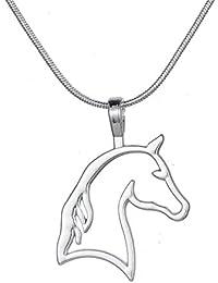 カットアウト馬ヘッドペンダントネックレスBestカウガールティーンガールズEquestrian誕生日ギフトジュエリー