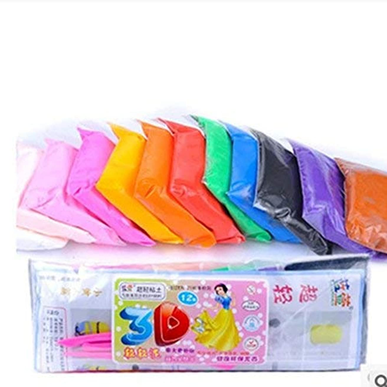 JIAHUI Air Dry Clay Ultra Light Modelling Magic Clay 12 Colours Eco-friendly Educational DIY Creative Polymer Play Clay Best Kids Gifts for Christmas