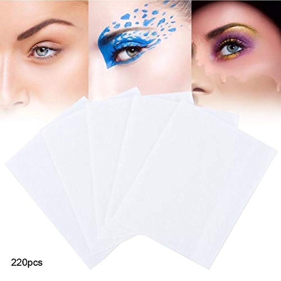 精神ハーブ雨の220枚 化粧コットンパッド 化粧の除去とスキンケアのための使い捨てフェイシャルワイプタオル